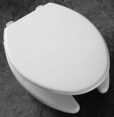 Elongated Toilet Seat - MEDIC-AID, Open Front with Cover, Plastic