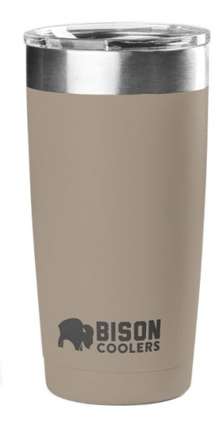 20 Oz Double Wall Vacuum Insulated Tumbler - Sand Stainless Steel, with Clear Shatter-Proof Lid