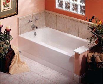 """60"""" x 30"""" x 14-1/4"""" Bathtub - BOOTZCAST, White"""