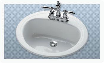 """20 X 17"""" Drop-In Bathroom Sink, Porcelain Enameled Steel"""