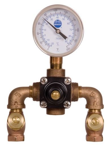 "1/2"" Chrome Plated Rough Bronze Thermostatic Mixing Valve - Navigator, NPT, 7 GPM, 125 psi"