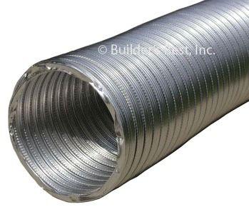 """3"""" X 10' Flexible Round Duct Pipe, Aluminum"""