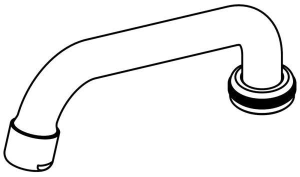 Swivel Tube Spout - Polished Chrome, Brass