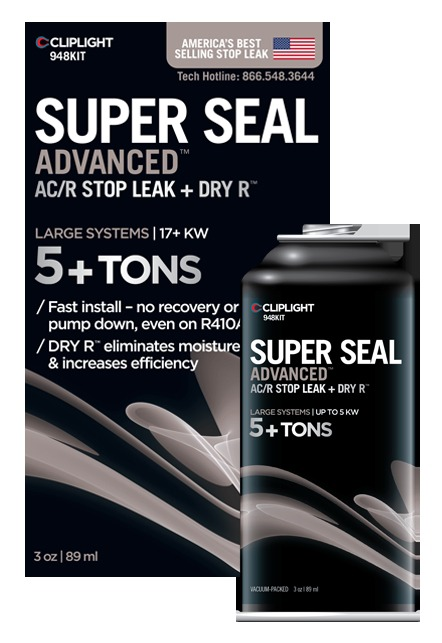 Air Conditioner Sealant - Super Seal Advanced, Clear, Liquid, 3 Oz