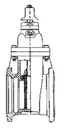 "10"" Epoxy Coated Ductile Iron Resilient Wedge Gate Valve - Handwheel, Mechanical Joint, 250 psi"