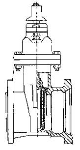 "6"" Epoxy Coated Ductile Iron Resilient Wedge Gate Valve - Handwheel, Mechanical Joint, 250 psi"