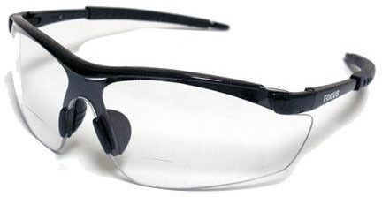 Clear Lens Contractor Safety Glasses - Black Frame