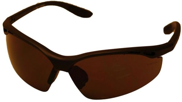 Smoke Lens Contractor Safety Glasses - Black Frame