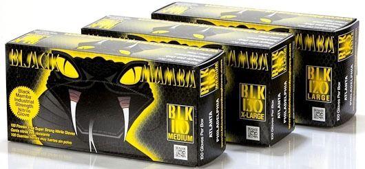 X-Large Black Gloves - Black Mamba, Nitrex Polymer / Grip Rite