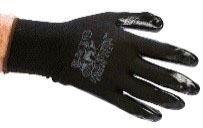 Large Black Work Gloves - Black Mamba, Nylon