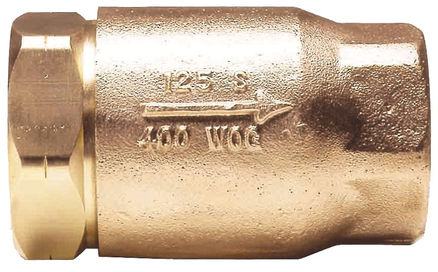 "1/2"" Threaded Check Valve, Cast Bronze Alloy"