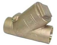 "1/2"" Bronze Y-Pattern Swing Check Valve - Soldered, 125 psi SWP, 200 psi CWP"