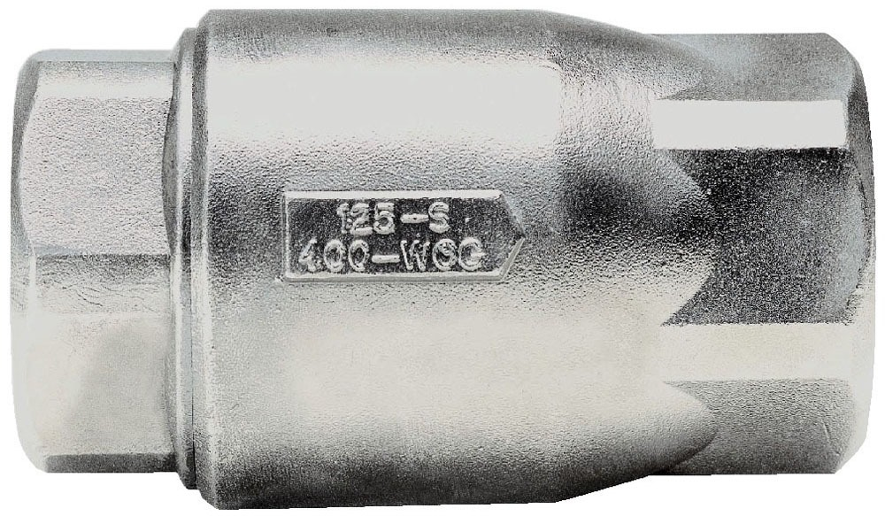 "1/2"" Threaded Check Valve, Stainless Steel"