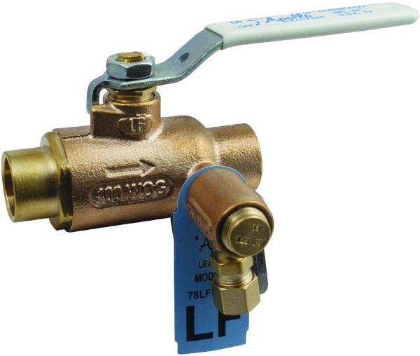 Soldered/Compression Thermal Expansion Relief Valve, Bronze