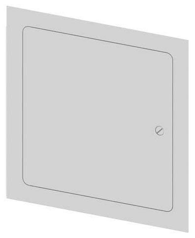 "14"" Square 1-Piece Square Dry Wall Access Door, 16 Gauge Galvannealed Steel"