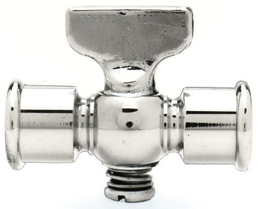 """1/4"""" Brass Air Cock - FPT, T-Handle"""