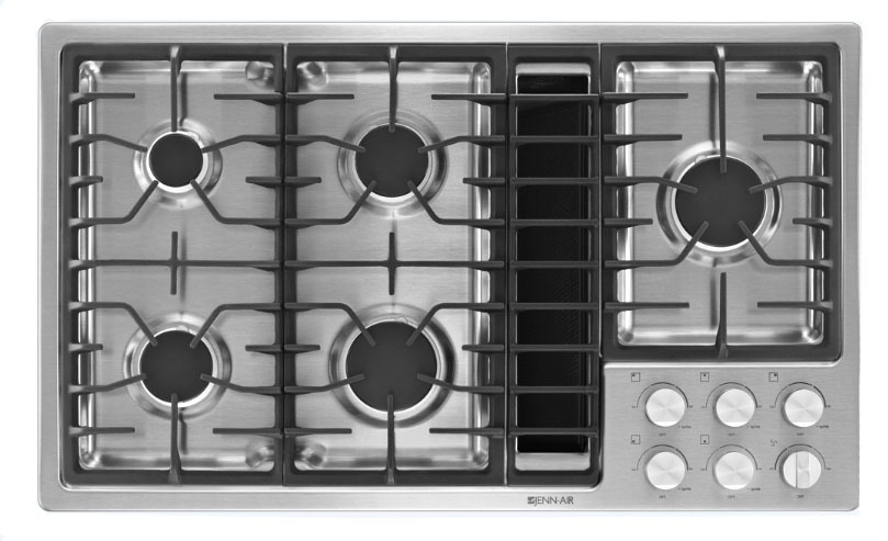 Downdraft Gas Cooktop, Stainless Steel