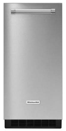 "15"" Built-In Freestanding Automatic Ice Maker - Stainless Steel, 50 Lb"