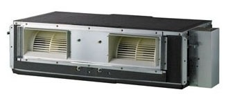 36000 BTU 17.6 SEER / 12.1 EER Duct-Free Air Conditioner - 208/230 VAC, 1-Zone, High Static Ceiling Concealed Duct, R-410A Refrigerant