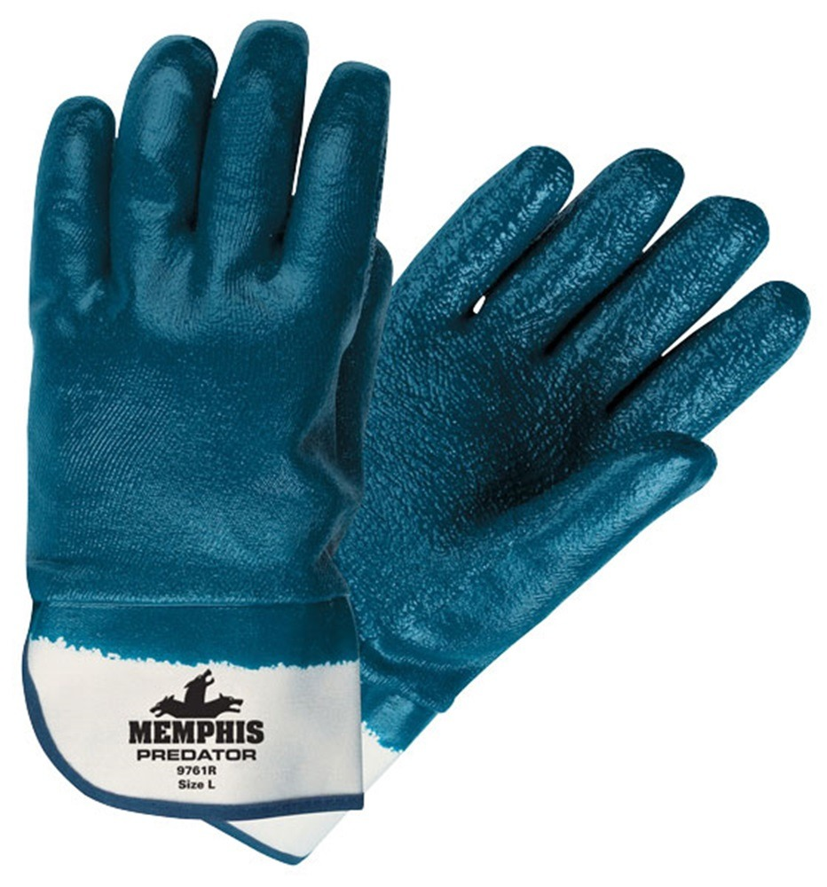 Straight Supported/Dipped Gloves, Nitrile