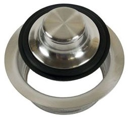 Garbage Disposal Flange Kit - With Stopper, Brushed Stainless Steel