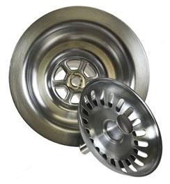 """3-1/2'"""" Round Kitchen Sink Strainer, PVD Oil Rubbed Bronze"""