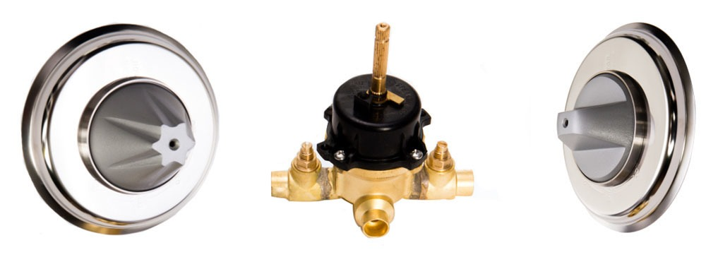 Female Soldered Shower Mixing Valve, Brass
