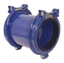 "3"" x 3"", 3.1 to 4.2"" Pipe OD, 260 PSI, Lead-Free, Flexi-Coat Fusion Bonded Epoxy, Carbon Steel, 2-Bolt, Straight, Coupling"