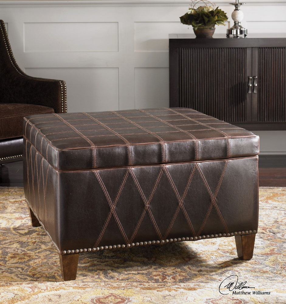 Wattley Storage Ottoman, Rugged Sable Brown Cover