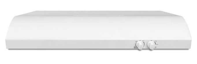 """30"""" Undercabinet Mount Range Hood with FIT System - White, 15 A, 190 CFM"""
