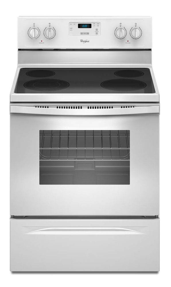 "30"" Freestanding Electric Range - 1500 W, 4-Burners, White"