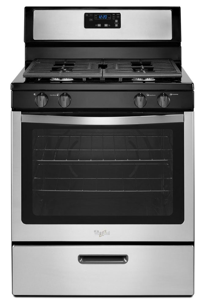 "30"" Freestanding Gas Range - 15000 BTU, 4-Burners, Stainless Steel"