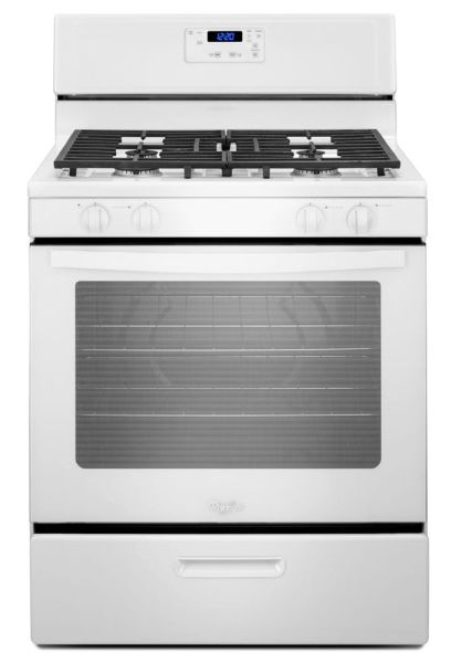 "30"" Freestanding Gas Range - 15000 BTU, 4-Burners, White"