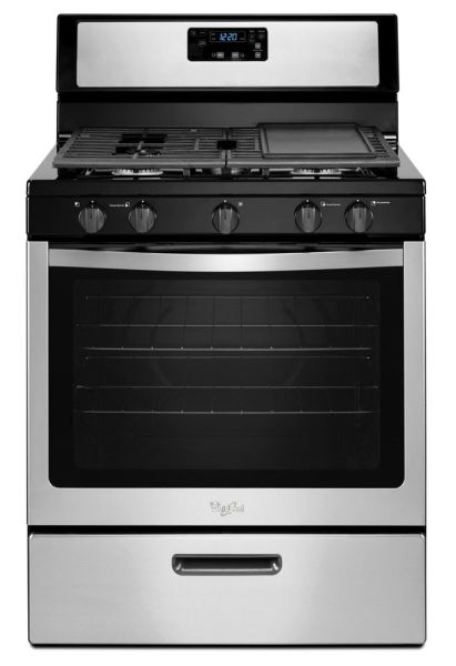 "30"" Freestanding Gas Range - 15000 BTU, 5-Burners, Stainless Steel"