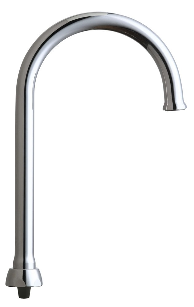 Deck Mount Rigid / Swing Gooseneck Faucet Spout - ECAST, Chrome Plated