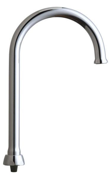 Deck Mount Rigid / Swing Gooseneck Faucet Spout - ECAST, Chrome Plated