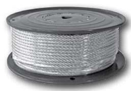 500' Cable Lock Wire Rope - Dyna-Tite, 25 to 150 psi, Galvanized Steel, Twisted, 7 x 7 Construction