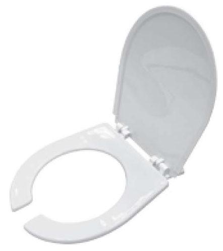 Open Front Toilet Seat, White