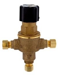 "3/8 X 3/8"" Compression Thermostatic Mixing Valve, Bronze"