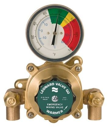 "1/2"" Rough Bronze Thermostatic Mixing Valve - ECO-MIX, Soldered, 125 psi"