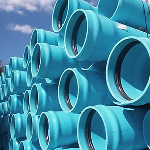"18"" x 20' PVC Pipe - Blue"