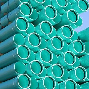 "4"" x 20' PVC Pipe - Green"
