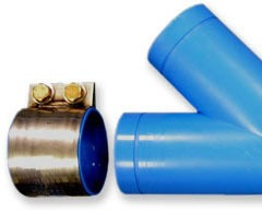 "3"" Thermoplastic/Stainless Steel Straight Coupling"
