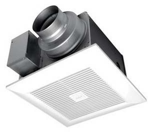 "110 CFM Ceiling Mount Ventilation Fan - WhisperGreen Select, Square Polypropylene Grille, 10-1/4"" x 10-1/4"" x 7-3/8"", 0.3 Sones"