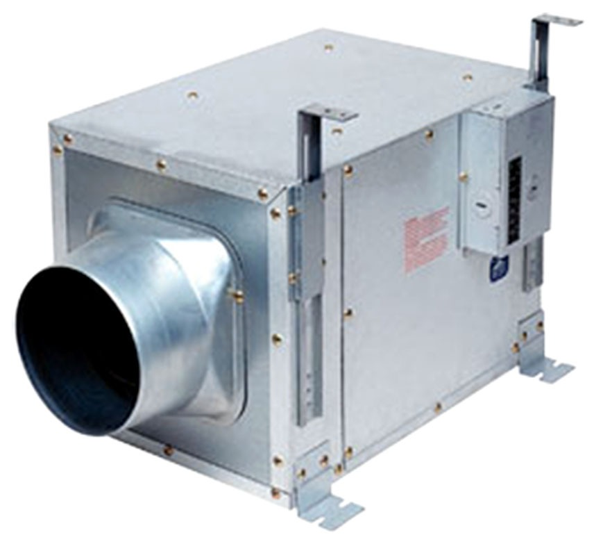 "240 CFM In-Line Ventilation Fan - WisperLine, 13-3/8"" x 11"" x 9-7/16"", 1.4 Sones"