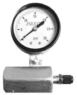 "0 to 30 psi Air Test Gauge Assembly - 3/4"" FPT, 2"" Face"