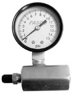 "0 to 15 psi Air Test Gauge Assembly - 3/4"" FPT, 2"" Face"