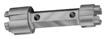 Double End Drain Dumbell Wrench, Aluminum