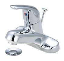 Bathroom Sink Faucet with Diverter Spout & Single Lever Handle - ELITE, Chrome Plated, Deck Mount, 1.2 GPM