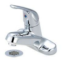 Bathroom Sink Faucet with Single Lever Handle - ELITE, Chrome Plated, Deck Mount, 1.2 GPM